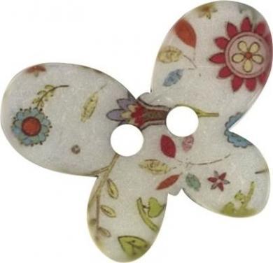 Großhandel Knopf 2-Loch Schmetterling 30mm
