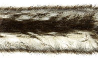 Webpelzbesatz Borneokatze 5cm braun
