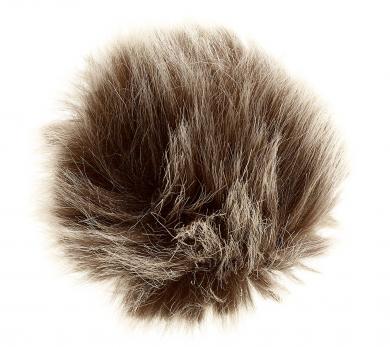 Faux Fur Pom Poms Wolf 8X8Cm