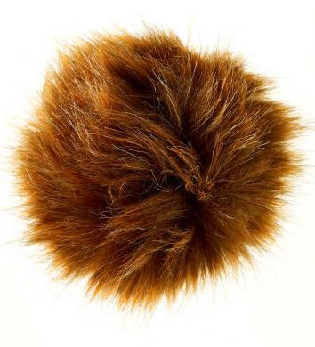 Faux Fur Pom Poms Red Fox 10X10Cm