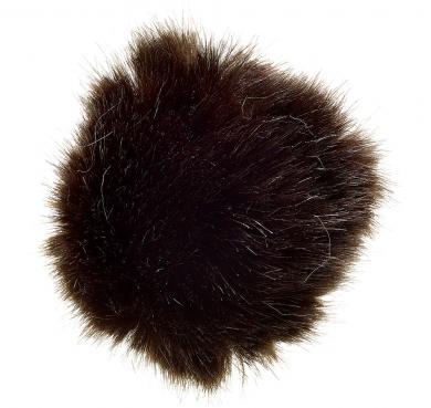 Faux Fur Pom Poms Mink 10X10Cm