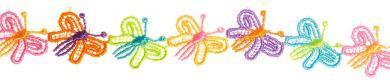 Großhandel Spachtelspitze 25mm Schmetterling bunt