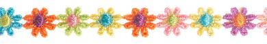 Großhandel Spachtelspitze 12mm Blüten bunt