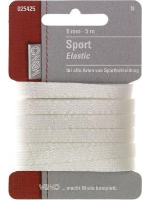 Großhandel Sport Elastic SB 8mm weiß
