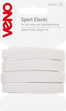 Wholesale Sport Elastic Self-Service 8mm White