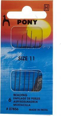 Großhandel Auffädel Nadeln ST 11 silber  mit Einfädler