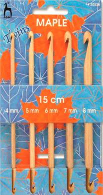 Set Tunisian crochet hooks double-sided Maple 4 to 8