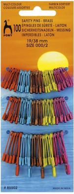 Safety Pins Brass coloured asstd