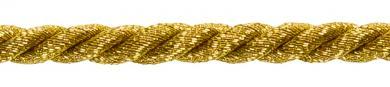 Kordel 4mm gold/silber