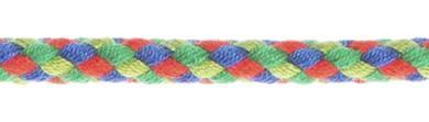 Flechtkordel 6mm multicolor