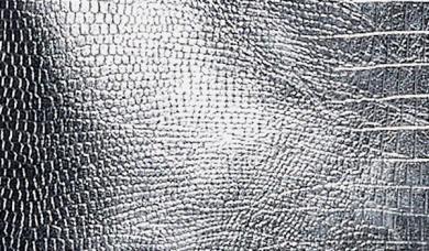 Kunstleder-Zuschnitt Metallic Glänzend Silber 66x45cm