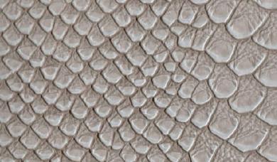 Kunstleder-Zuschnitt Caiman Grau 66x45cm