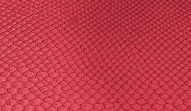 Großhandel Kunstleder-Zuschnitt Leguan Rot 66x45cm