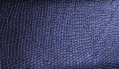 Kunstleder-Zuschnitt Metallic Glänzend Marine 66x45cm