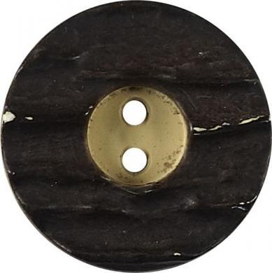 Großhandel Knopf 2-Loch Hirschhornimitat 25mm