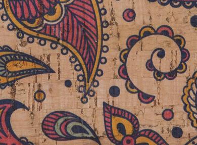Korkstoff Indian Paisley