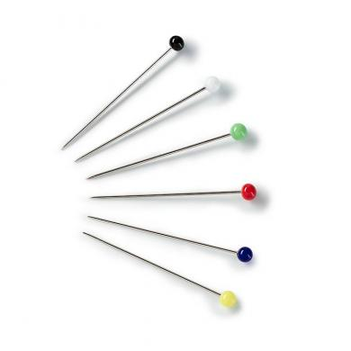 Glass-headed pin 30x0.60 si-col col  10g