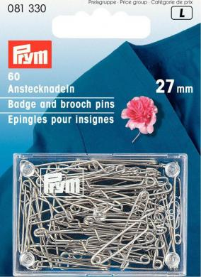 Wholesale Badge pins m. st 27mm si-col