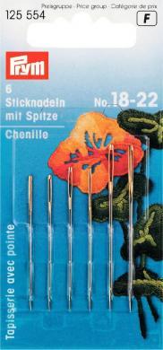 Sticknadeln mit Sp. ST 18-22 silberfarbig/goldfarbig