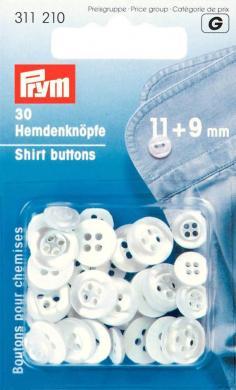 Großhandel Hemdenknöpfe KST 11 + 9 mm perlmutt