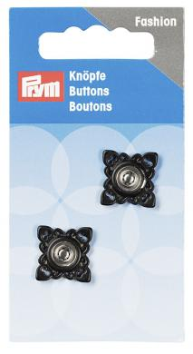 Wholesale sew on buttons square 21mm black