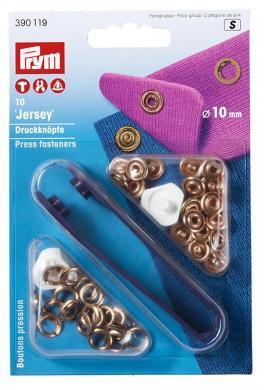 Großhandel NF-Druckknopf Jersey MS 10 mm verkupfert