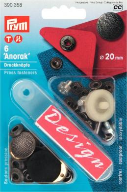 Großhandel NF-Druckknopf Anorak Spirit MS 20 mm altsilber