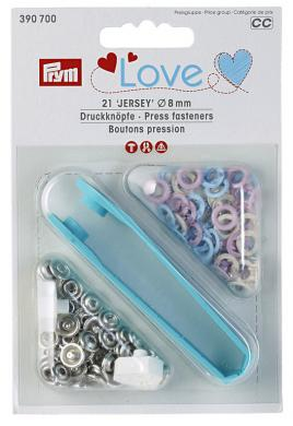 PL fast jersey color ms 8mm pink/light blue/pearl