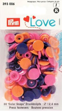 Großhandel Prym Love Druckknopf Color KST 12,4mm orange/pink/violett