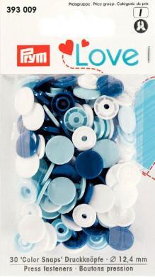 Großhandel Prym Love Druckknopf Color KST 12,4mm blau/weiß/hellblau