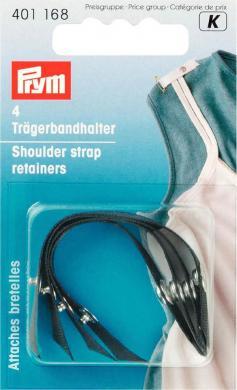 Shoulder strap retainers black 4 pc