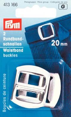 Rundbundschnallen ST 20 mm silberfarbig