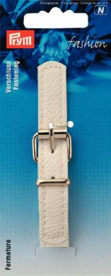 Großhandel Verschluss Lederimitat 14 mm 11,5 cm weiß