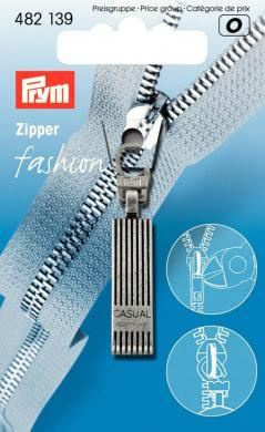 Fashion-Zipper Casual altsilber
