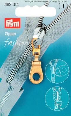 Großhandel Fashion-Zipper Öse goldfarbig