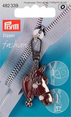 Großhandel Fashion-Zipper Pferdekopf
