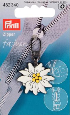 Fashion-Zipper Alpen Edelweiss