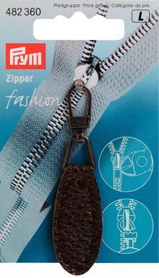 Großhandel Fashion-Zipper Lederimitat oval dunkelbraun
