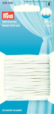 Großhandel Raffrollokordel 1 mm weiß