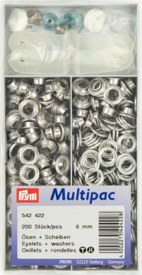 Wholesale Eyelets+Washers br 8mm si-col      200pc