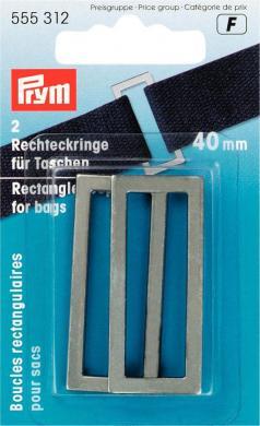 Großhandel Rechteckringe für Taschen 40 mm altsilber