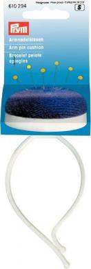 Großhandel Armnadelkissen mit Spange pflaumenblau/weiß