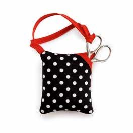 Wholesale Pin cushion Polka Dots Black/White   1pc