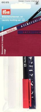 Großhandel Wäschemarkierset Standard, roter Stift