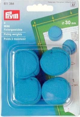 Großhandel Fixiergewichte MINI 30mm türkisblau