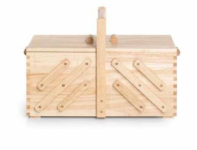 Nähkasten Holz hell L
