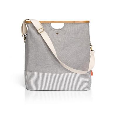 "Großhandel Store & Travel Bag ""Canvas & Bamboo"" M grau"
