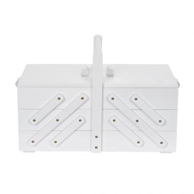 Wholesale sewing basket wood L white