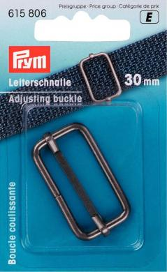 Leiterschnalle 30 mm altsilber