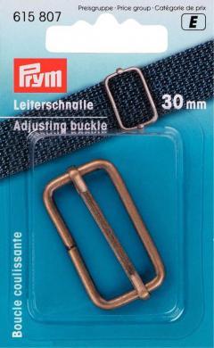 Leiterschnalle 30 mm altmessing